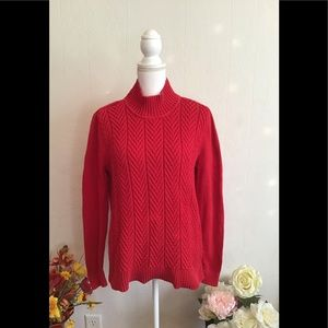 Croft and Barrow Red sweater long sleeves size L